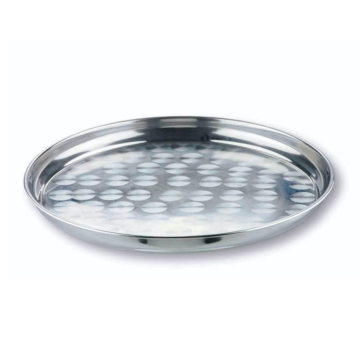 "Lacor USA 14135 Serving Tray 12"" Round Stainless Steel"