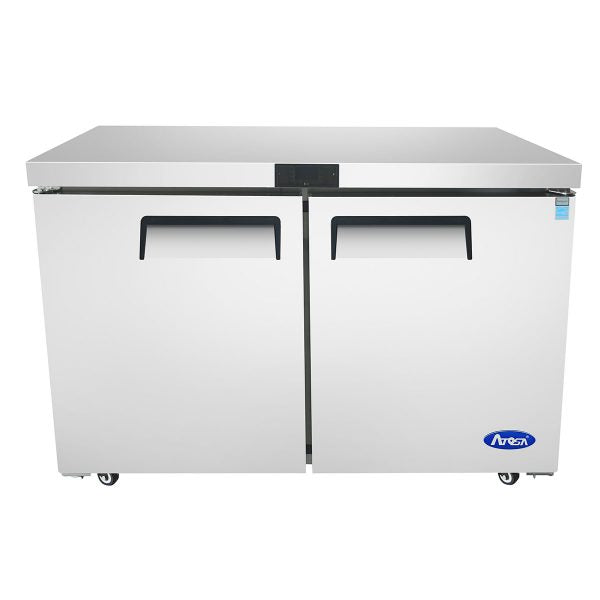 "Atosa MGF36FGR 36"" Two Section Reach In Undercounter Freezer - Stainless"