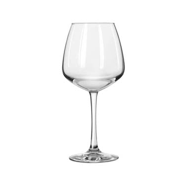 "Libbey 7515 Diamond Balloon Wine Glass, 18-1/4 oz., Finedge® and Safedge® rim guarantee, Vina™ (H 8-1/2""; T 2-3/4""; B 3-1/4""; D 4"")"