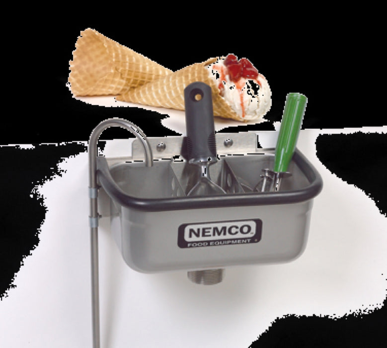 "Nemco 77316-10 10"" Ice Cream Spade Dipper Well with Install Kit"