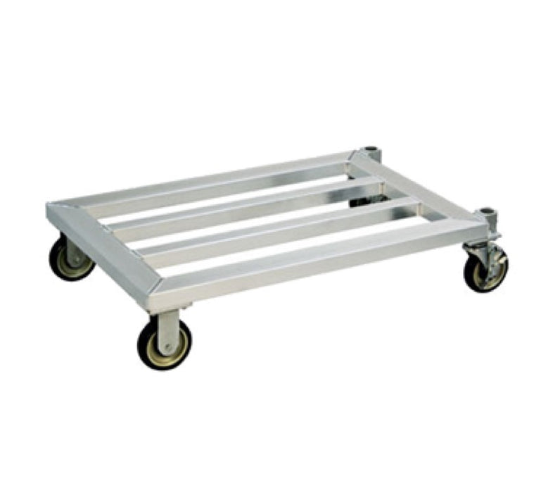 "New Age 1214 Mobile Dunnage Rack 31 3/4"" x 24"" - Aluminum"