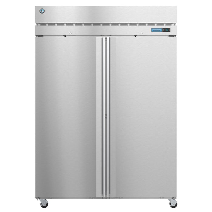 "Hoshizaki R2A-FS 55"" Two Section Reach-In Refrigerator - Stainless"