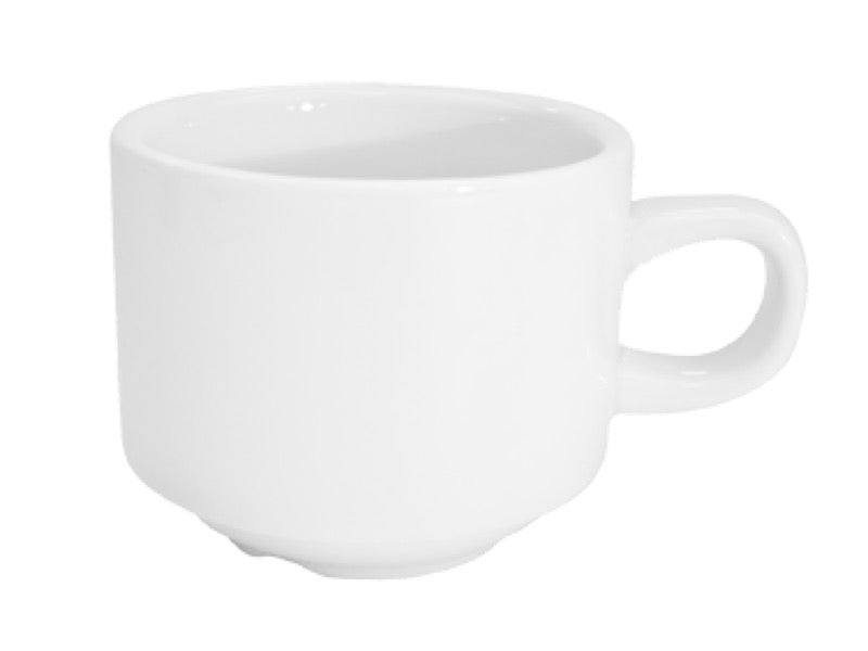 "CAC China RCN-1-S Clinton 8 1/2"" Coffee Cup (Case Of 36) - White"