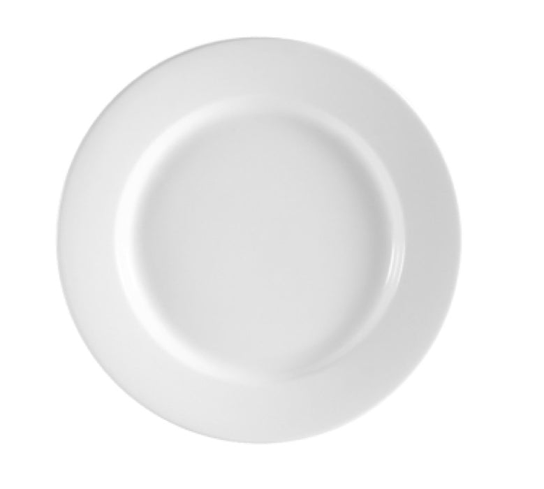 "CAC China RCN-21 Clinton 12"" Round Dinner Plate (One Dozen) - White"
