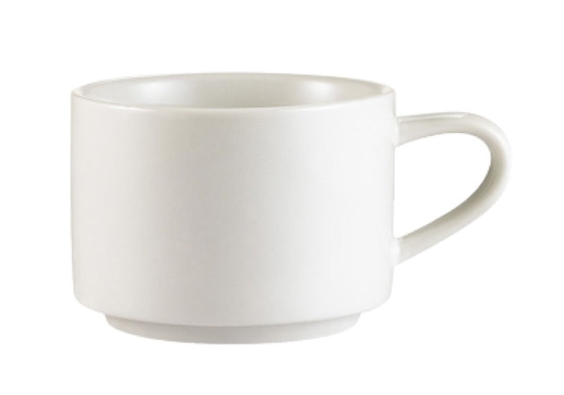 CAC China RCN-23 Clinton 7 1/2 Ounce Coffee Cup (Case Of 36) - White