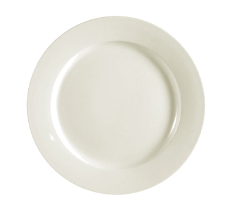 "CAC China REC-16 REC 10 1/2"" Round Plate (One Dozen) - White"