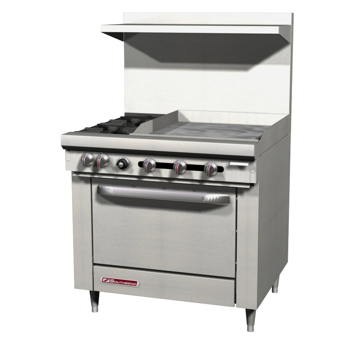 "Southbend S36D-3G 36"" Gas Range With Griddle On Right"
