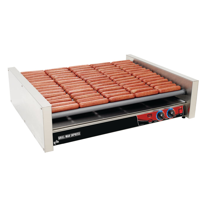 Star X75 Grill Max Roller Hot Dog Grill - 75 Hot Dog Capacity