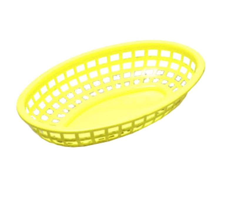 "TableCraft 1074Y Classic Oval Basket 9 3/8"" x 6"" x 1 7/8"" - Yellow"