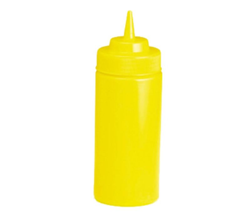 TableCraft 11663M 16 Ounce Wide Mouth Squeeze Bottle - Yellow