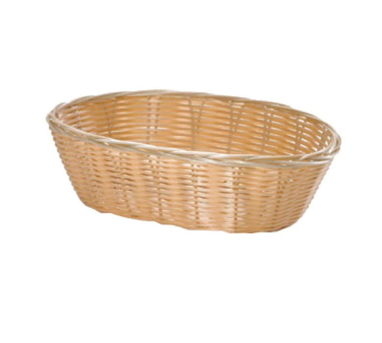 "TableCraft 1176W Oval Woven Basket 10"" x 6 1/2"" x 3"" - Natural"