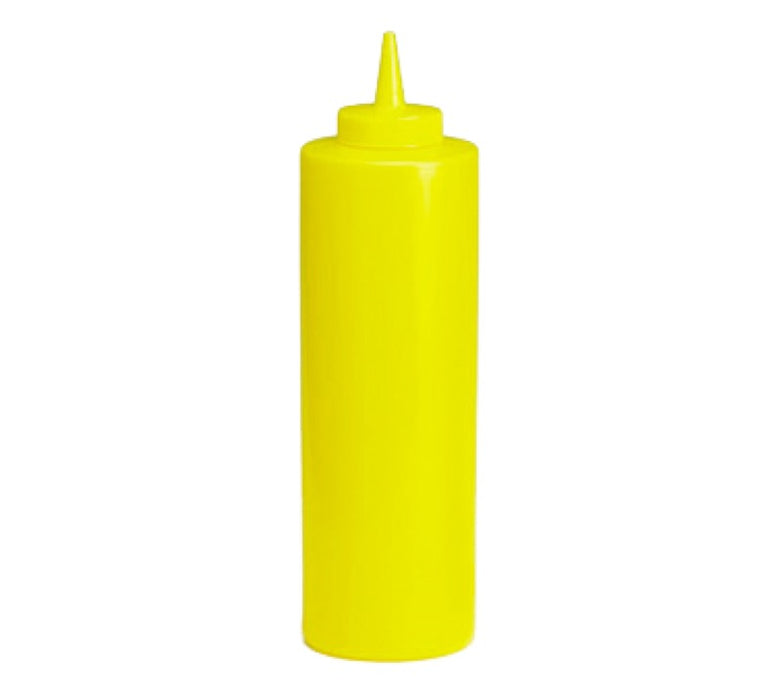 TableCraft 12463M 24 Ounce Wide Mouth Squeeze Bottle - Yellow