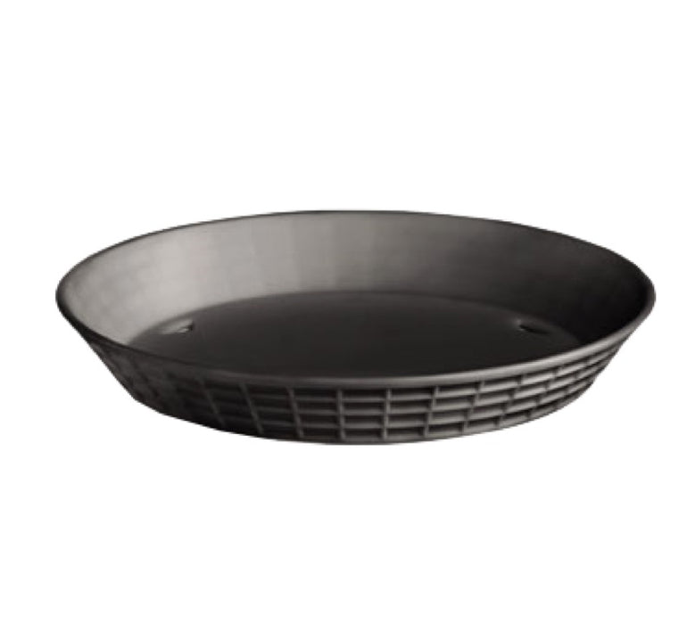"TableCraft 137512BK Round Platter Basket 12"" x 1 1/2"" - Black"