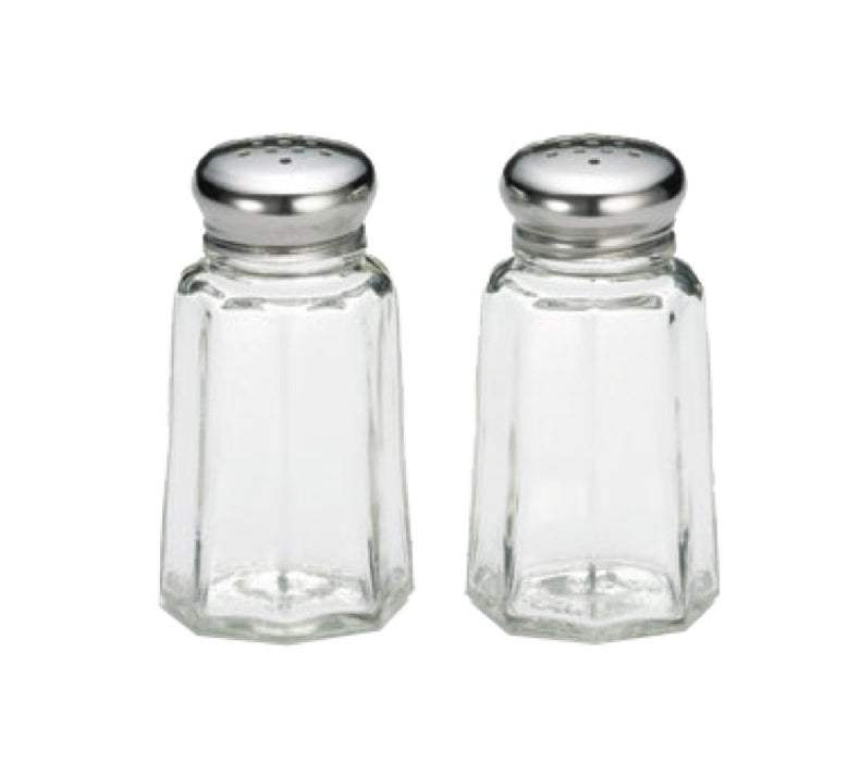 TableCraft 150S&P 1 Ounce Paneled Glass Salt And Pepper Shakers (One Pair)