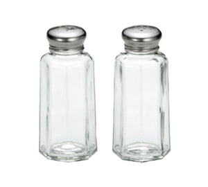 TableCraft 155S&P 2 Ounce Paneled Glass Salt And Pepper Shakers