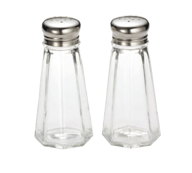 TableCraft 156S&P 3 Ounce Paneled Glass Salt And Pepper Shakers (One Pair)
