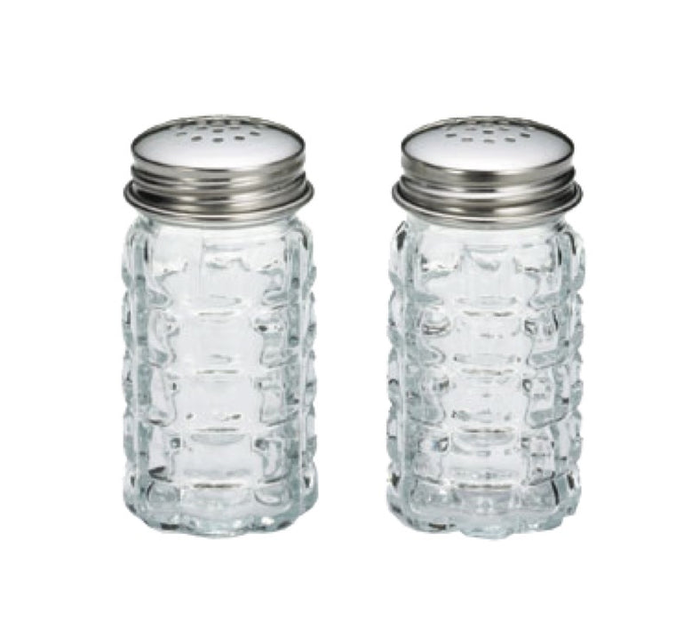 TableCraft 163S&P 1 1/2 Ounce Nostalgia Glass Salt And Pepper Shakers (One Pair)