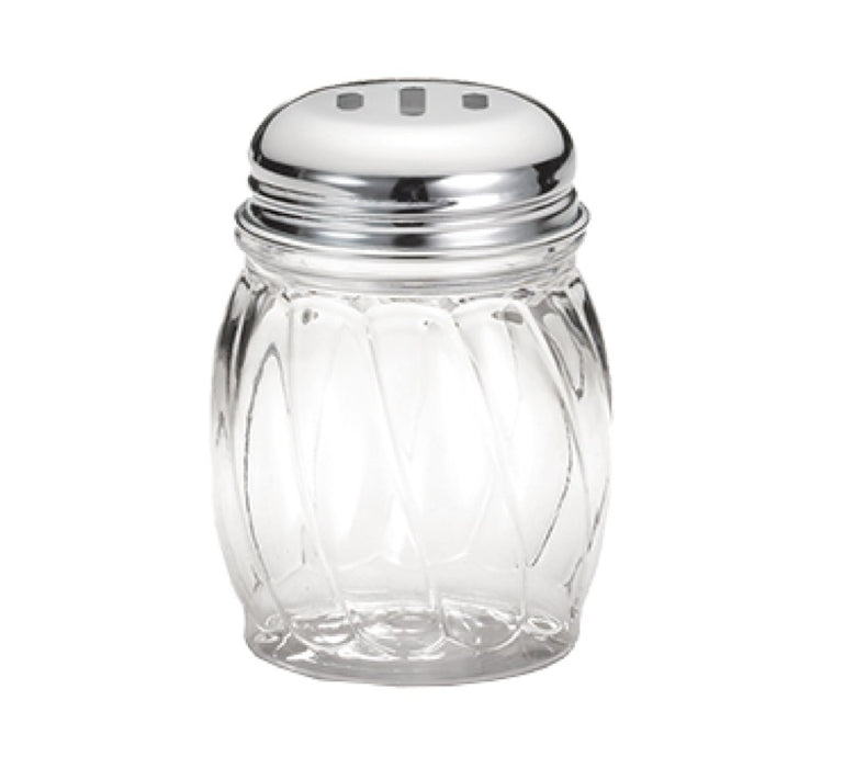 TableCraft 260SL 6 Ounce Glass Cheese Shaker With Slotted Top