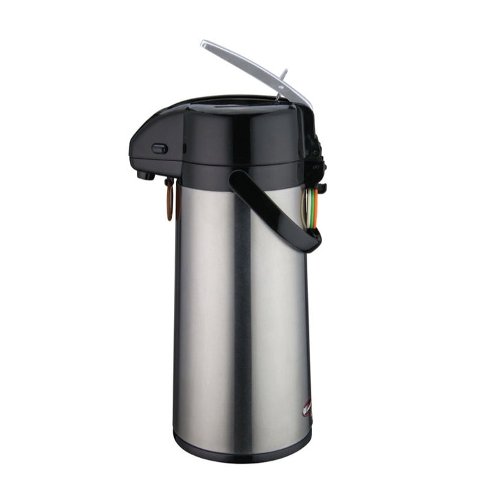 Winco AP-822 Airpot 2.2 Liter Glass Liner Lever-Action Top
