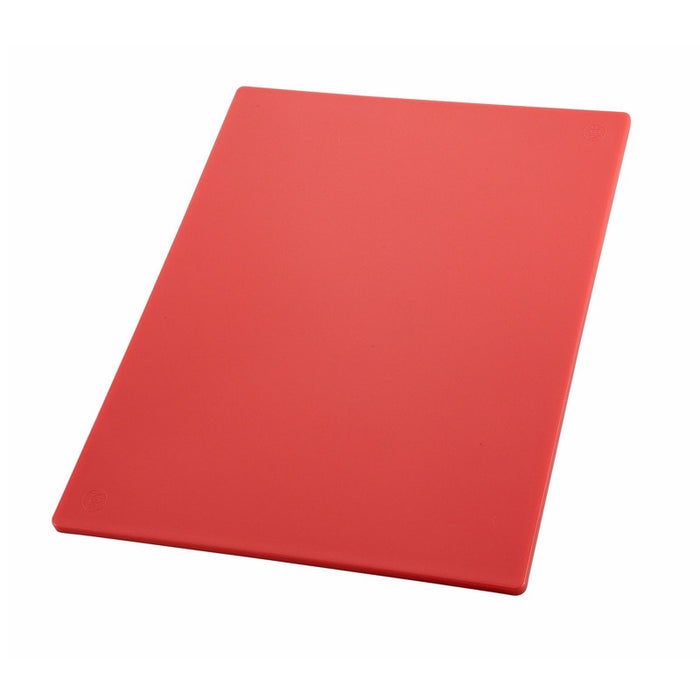 "Winco CBRD-1824 Cutting Board 18"" x 24"" x 1/2"" Thick BPA Free Polypropylene - Red"