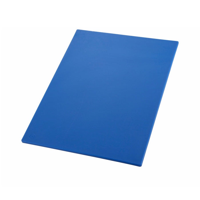 "Winco CBBU-1218 Cutting Board 12"" x 18"" x 1/2"" Thick BPA Free Polyethylene - Blue"
