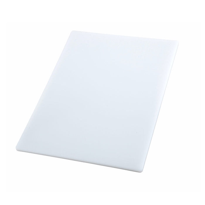 "Winco CBWT-1520 Cutting Board 20"" x 15"" x 1/2"" Thick BPA Free White"