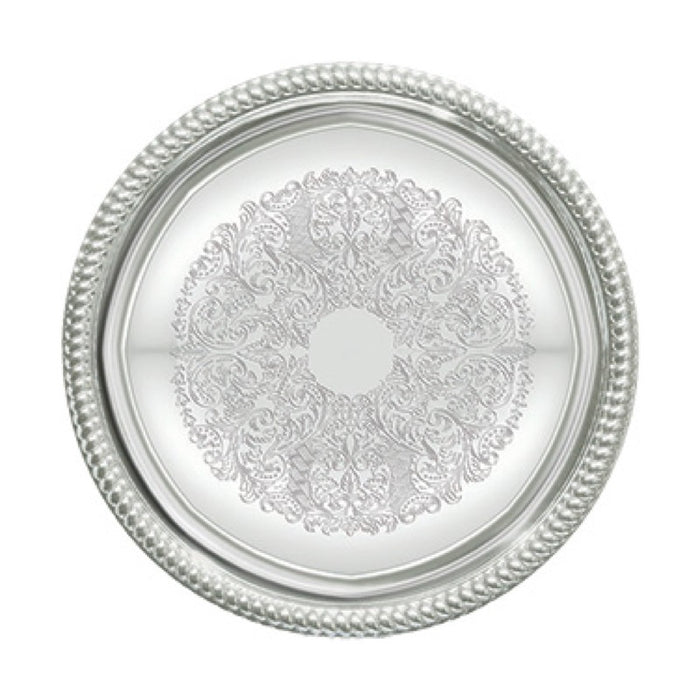 "Winco CMT-14 Serving Tray 14"" Round Chrome Plated"