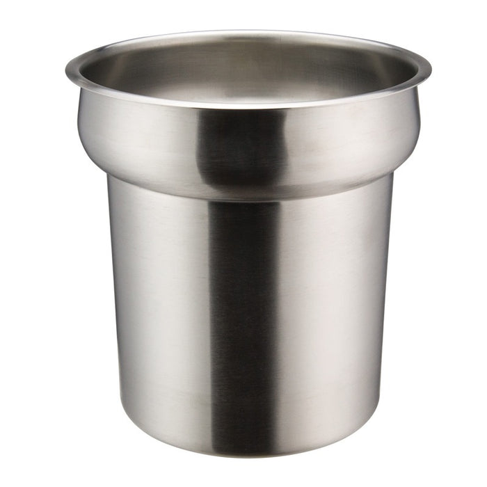 Winco INS-4.0 Inset 4 Quart Round Heavy Weight Stainless Steel
