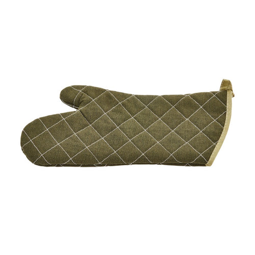 Winco OMF-15 Oven Mitt Cotton Green
