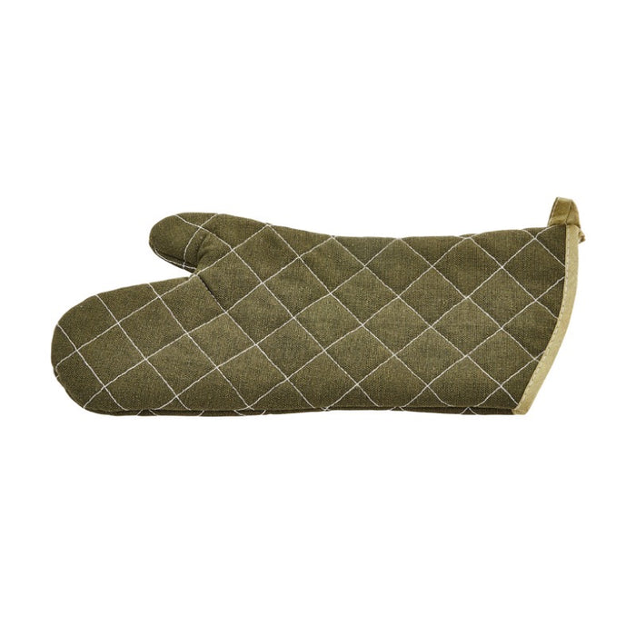 "Winco OMF-15 15"" Cotton Oven Mitt - Green"