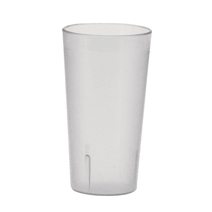 Winco PTP-12C Tumbler 12 Ounce Pebbled Plastic Clear - 1 Dozen