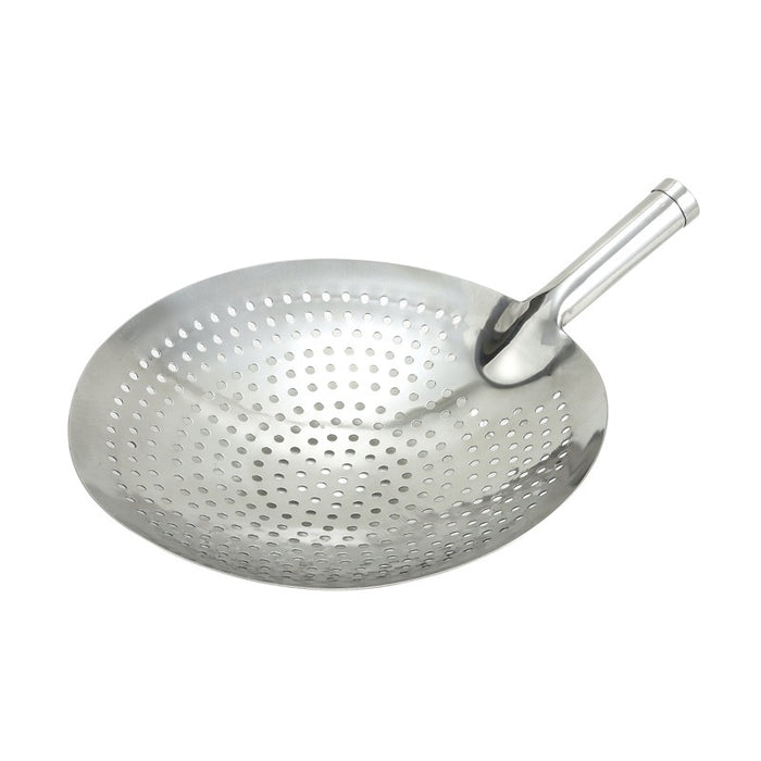 "Winco SC-12 Skimmer 12"" Round Perforated Stainless Steel"