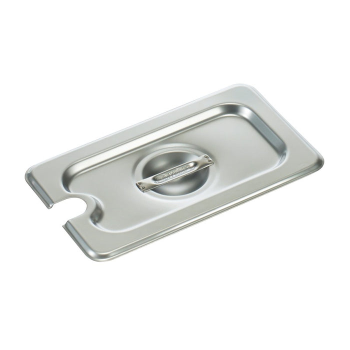 Winco SPCN Steam Table Pan Cover 1/9 Size Slotted Stainless Steel