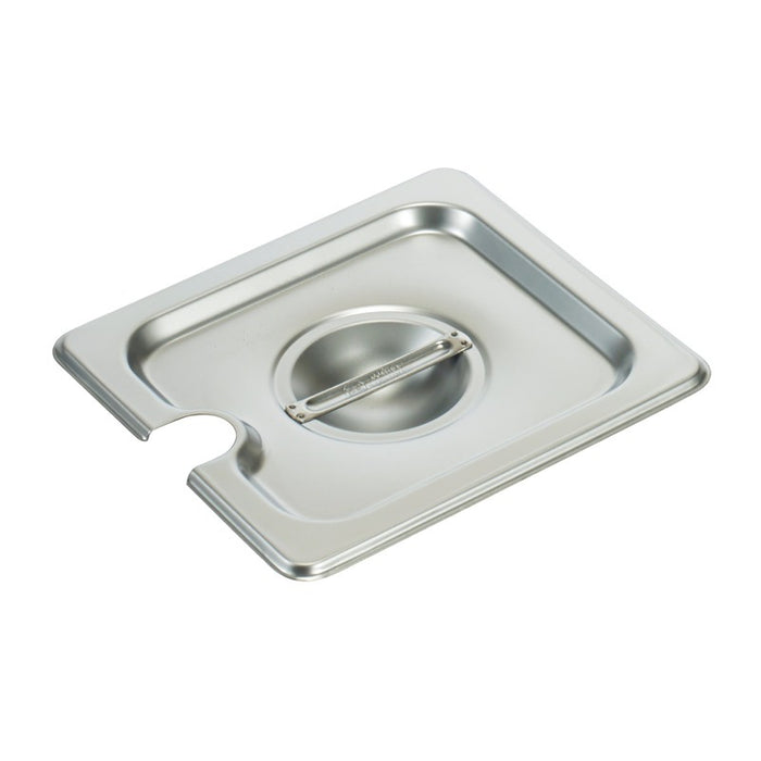 Winco SPCS Steam Table Pan Cover 1/6 Size Slotted Stainless Steel