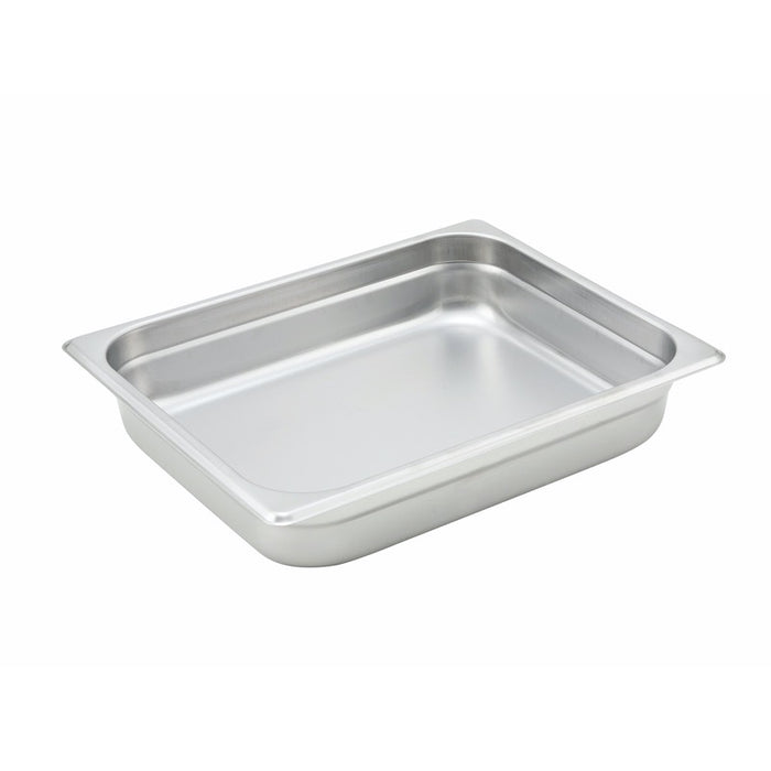 "Winco SPJH-202 Steam Table Pan 1/2 Size 2 1/2"" Deep Heavy Weight Stainless Steel"