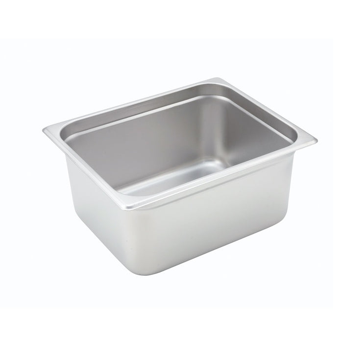 "Winco SPJH-206 Steam Table Pan 1/2 Size 6"" Deep Heavy Weight Stainless Steel"