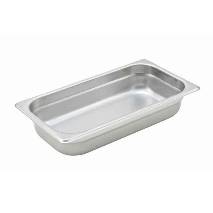 "Winco SPJH-302 Steam Table Pan 1/3 Size 2 1/2"" Deep Heavy Weight Stainless Steel"