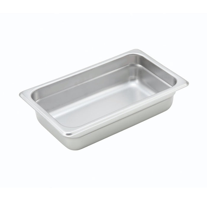 "Winco SPJH-402 Steam Table Pan 1/4 Size 2 1/2"" Deep Heavy Weight Stainless Steel"