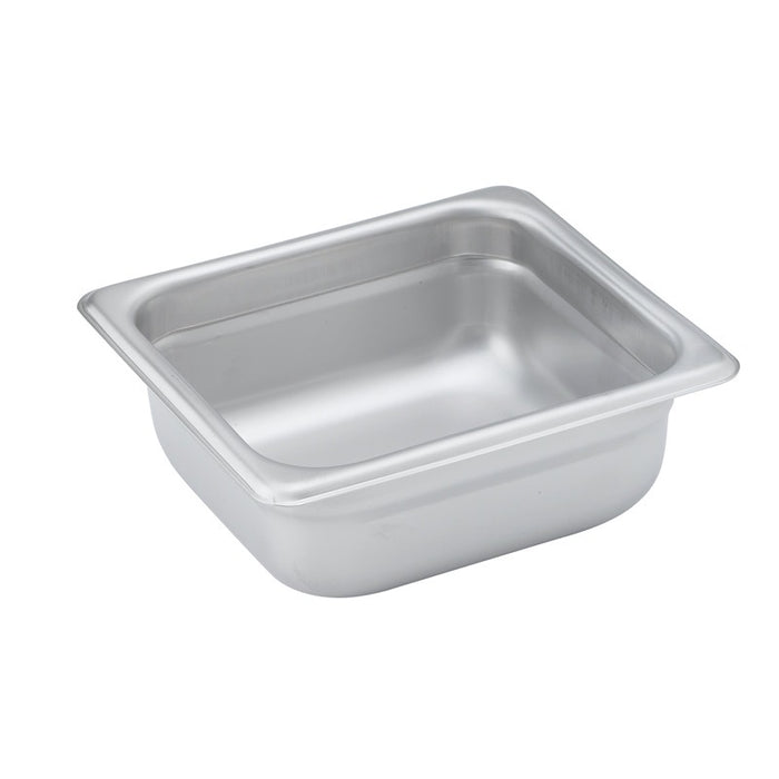 "Winco SPJH-602 Steam Table Pan 1/6 Size 2 1/2"" Deep Heavy Weight Stainless Steel"