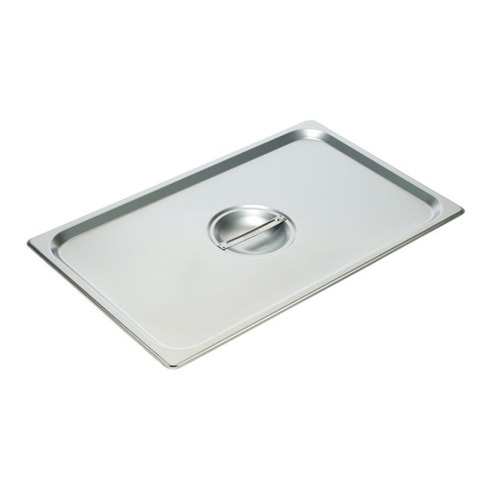 Winco SPSCF Steam Table Pan Cover 1/1 Size Solid Stainless Steel