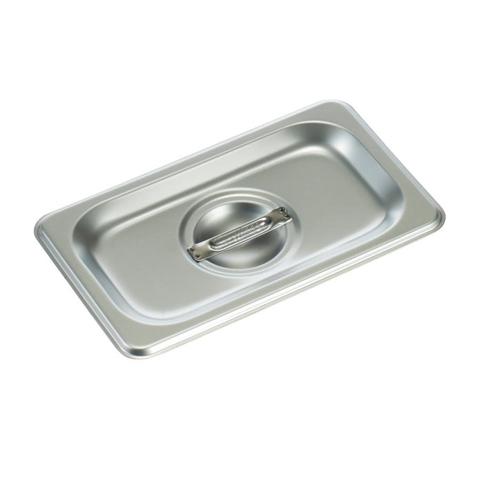 Winco SPSCN Steam Table Pan Cover 1/9 Size Solid Stainless Steel