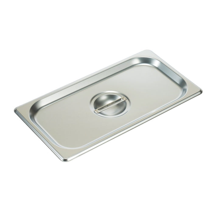 Winco SPSCT Steam Table Pan Cover 1/3 Size Solid Stainless Steel