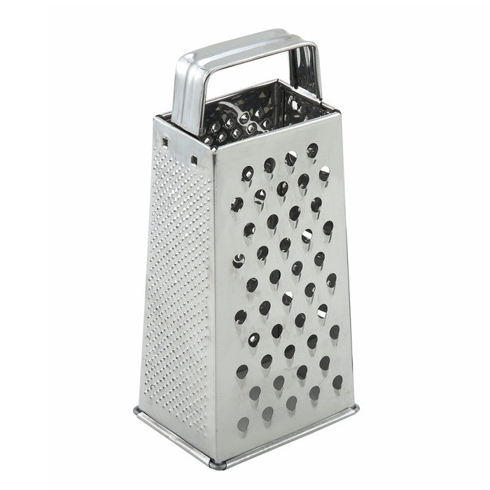 "Winco SQG-1 Grater 4"" x 3"" x 9"" Tapered Stainless Steel"