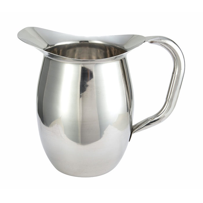 Winco WPB-2 Bell Pitcher 2 Quart Heavy Weight Stainless Steel