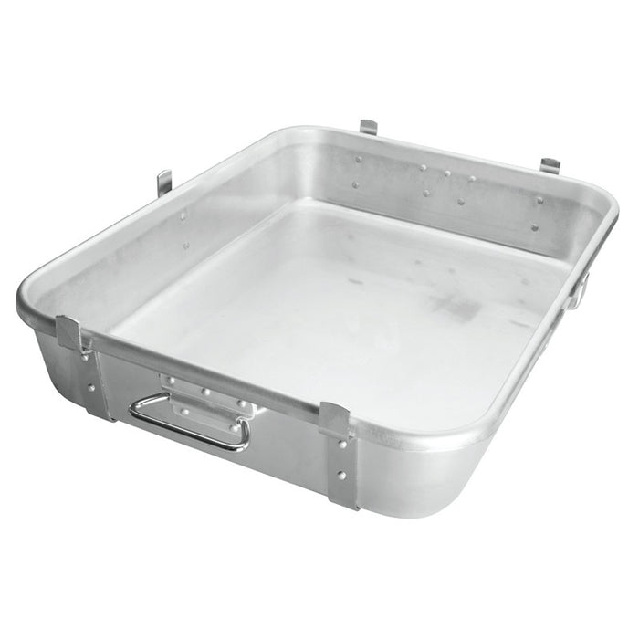 Winco ALRP-1824L Double Roast Pan 10 Gauge Heavy Duty Aluminum