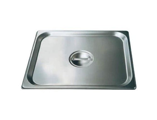 Winco SPSCTT Steam Table Pan Cover 2/3 Size Solid Stainless Steel