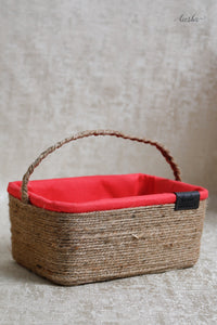Brocade Basket Yellow