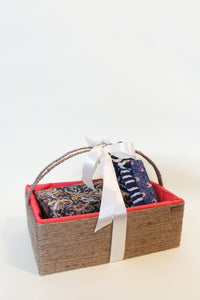 Hamper: Basket + Jewelry Box + Jhola + Bookmarks