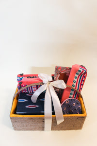 Hamper: Basket + Utility Pouch Set + Jewelry Box + Multipurpose Pouch + Coin Pouch