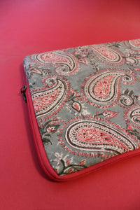 Laptop Sleeve Pink and Grey